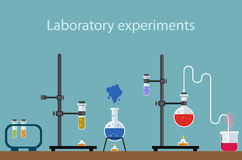 Laboratory experiments. Test medical biology Royalty Free Stock Photo