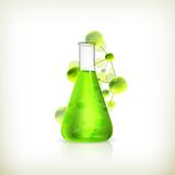 Laboratory flask Stock Photo