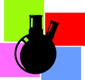 Laboratory flask Stock Photo