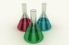 Laboratory flask. Royalty Free Stock Image