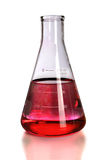Laboratory Flask With Red Colorant Stock Photography