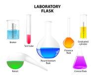 Laboratory flask on white background Royalty Free Stock Photo