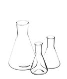 Laboratory flasks. Stock Photo