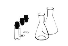 Laboratory flasks. Royalty Free Stock Photography