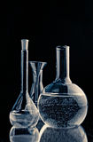 Laboratory flasks royalty free stock photos