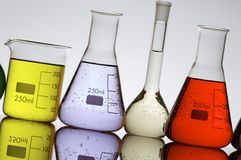 Laboratory flasks Stock Photography