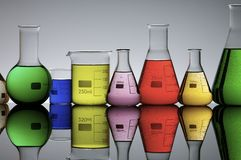 Laboratory flasks Royalty Free Stock Photos