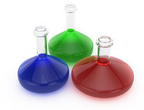 Laboratory flasks Stock Image