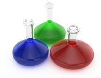 Laboratory flasks Stock Image
