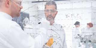 Laboratory formulas analysis Stock Photography