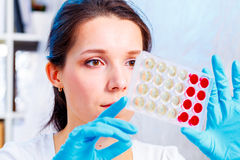 Laboratory of  genetics Stock Photos