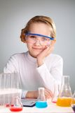 Laboratory girl Stock Photography