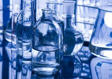 Laboratory glass. A laboratory is a place where scientific research and experiments are conducted. Laboratories designed for processing specimens, such as Royalty Free Stock Photo