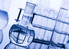 Laboratory glass. A laboratory is a place where scientific research and experiments are conducted. Laboratories designed for processing specimens, such as Stock Images