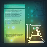 Laboratory glass. Chemical flask Stock Photography