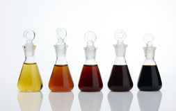 The laboratory glass container and liquid Royalty Free Stock Photo