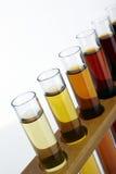 Laboratory glass test tube and liquid Stock Photos