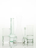 Laboratory glass utensils on white background Stock Image