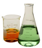 Laboratory glassware. Stock Images