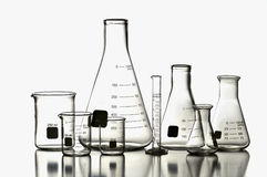 Laboratory Glassware. Isolated on a white background Royalty Free Stock Images