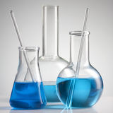Laboratory glassware Stock Photo