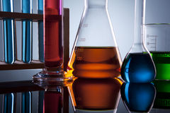 Laboratory glassware Royalty Free Stock Photo