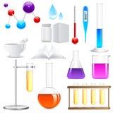 Laboratory Glassware royalty free illustration