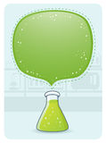 Laboratory Glassware With a Big Bubble Stock Photos