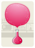 Laboratory Glassware With a Big Bubble. Vector Illustration of a Laboratory Glasware With A Big Bubble Stock Photography