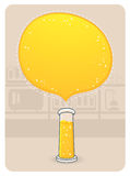 Laboratory Glassware With a Big Bubble. Vector Illustration of a Laboratory Glasware With A Big Bubble Royalty Free Stock Photography