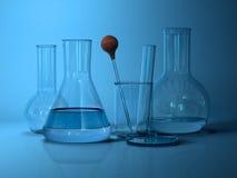 Laboratory glassware. Royalty Free Stock Image