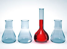 Laboratory glassware on bright background Royalty Free Stock Photos