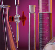 Laboratory Glassware - Chemistry Royalty Free Stock Photos