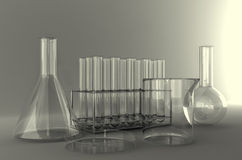 Laboratory glassware. Stock Photos