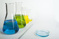 Laboratory glassware equipment Stock Image