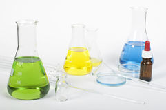 Laboratory glassware equipment Stock Photos