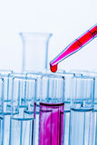 Laboratory glassware in laboratory in chemistry Royalty Free Stock Image