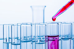 Laboratory glassware in laboratory Royalty Free Stock Photo