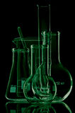 Laboratory glassware for liquids Royalty Free Stock Photos