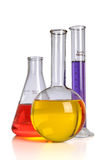 Laboratory Glassware Over white Royalty Free Stock Images