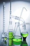 Laboratory glassware over white Stock Image
