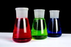 Laboratory Glassware - Row of Breakers Stock Image