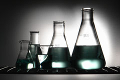 Laboratory Glassware in Science Research Lab Stock Image