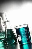 Laboratory Glassware in Science Research Lab Royalty Free Stock Photos