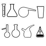 Laboratory glassware utensils Royalty Free Stock Photo