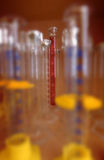Laboratory graduated cylinders Stock Photo