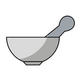 Laboratory grinder isolated icon. Illustration design Stock Image