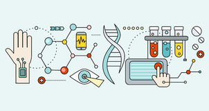 Laboratory with Human DNA. Concept Scientific Royalty Free Stock Image