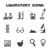 Laboratory icons Royalty Free Stock Photo