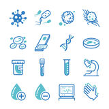 Laboratory icons set Stock Photos